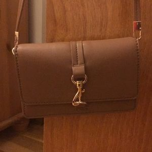 Tan crossbody with Gold Buckle